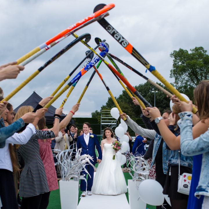 Bruidsfotografie Baarn - Hockeyvereniging Baarn